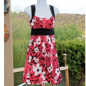 Pink Black & White Floral Dress  by B. Smart